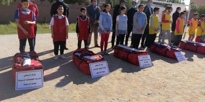 توزيع لوازم مدرسية على مؤسساتٍ تعليميةٍ بمديرية تيزنيت